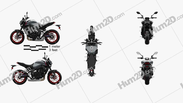 Yamaha MT-09 2021 Motorrad clipart