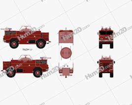 Yankee-Walter PLF 6000 Dry Powder Fire Truck 1972 clipart