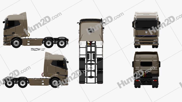 Yuan-Cheng M100 Tractor Truck 2021 clipart