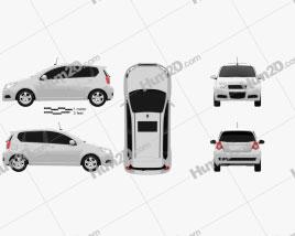ZAZ Vida Hatchback 2012 Clipart