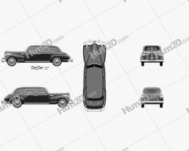ZIS 115 1946 car clipart