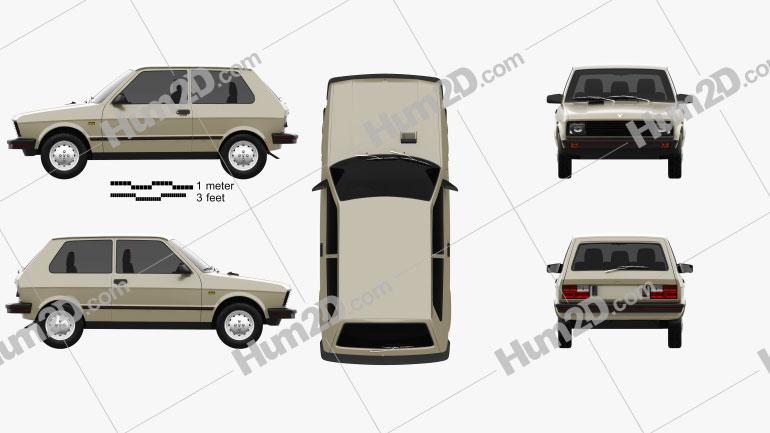 Zastava Yugo 45 1980 car clipart
