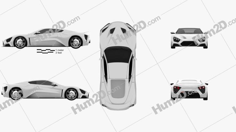 Zenvo ST1 2010 Clipart Image