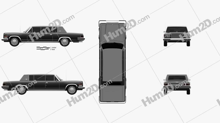 ZIL 4104 1978 car clipart