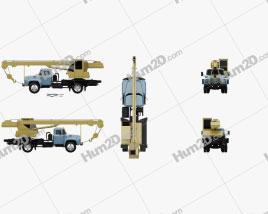 ZIL 130 Crane Truck 1964 clipart