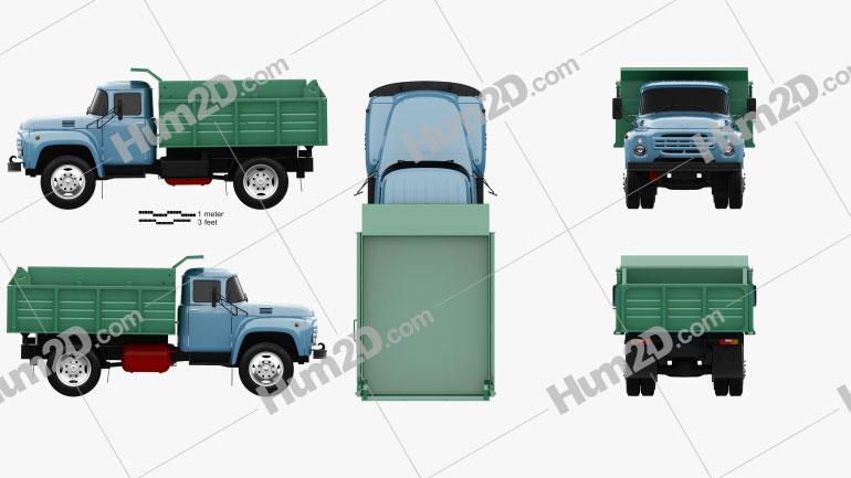 ZIL 130 Dump Truck 1964 clipart