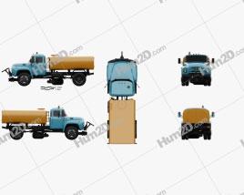 ZIL 130 Street Cleaner Truck 1964