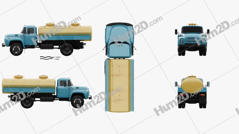 ZIL 130 Tanker Truck 1964 clipart