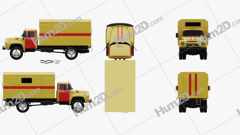 ZIL 130 Service Truck 1964 clipart