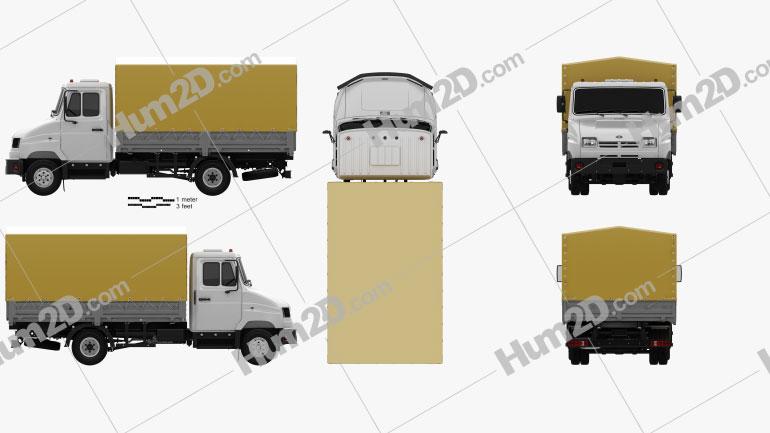 ZIL Bychok 5301 AO Truck 1996 clipart