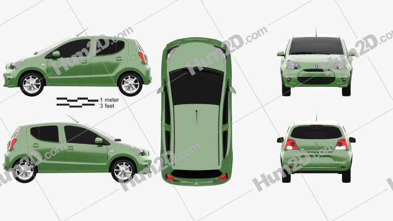 Zotye Z100 2013 car clipart