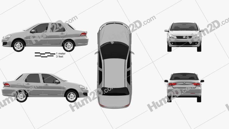 Zotye Z200 2011 car clipart