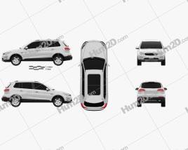 Zotye Damai X5 2015 car clipart