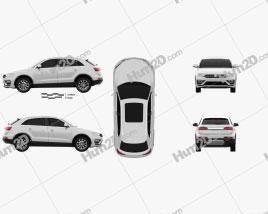Zotye SR7 2016 car clipart