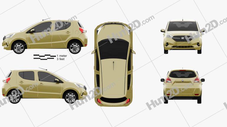 Zotye Yun100 Plus 2018 car clipart
