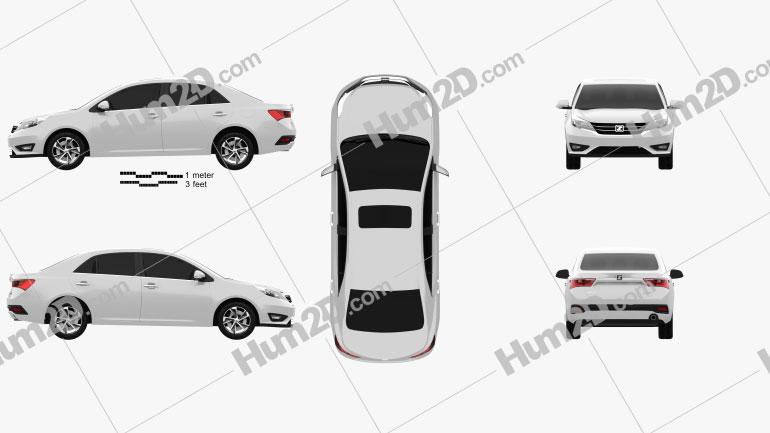 Zotye Z360 2017 car clipart