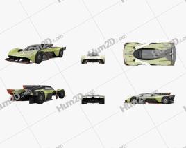 Aston Martin Valkyrie AMR Pro 2020 car clipart