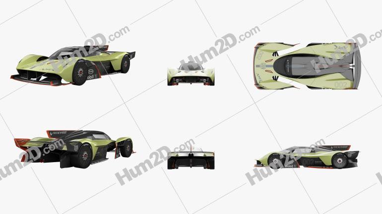 Aston Martin Valkyrie AMR Pro 2020 Clipart Image