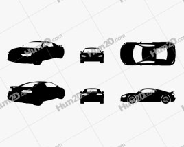 Audi R8 V10 Silhouette car clipart