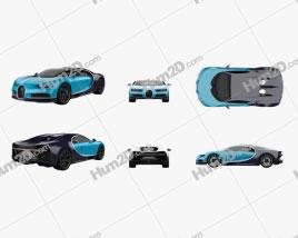 Bugatti Chiron PNG car clipart