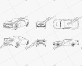 Chevrolet Camaro SS Outline car clipart