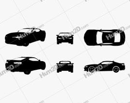 Chevrolet Camaro SS Silhouette car clipart