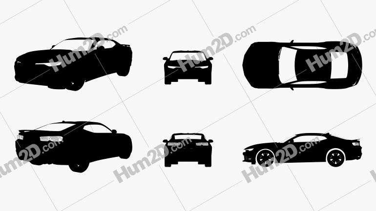 Chevrolet Camaro SS Silhouette Clipart Image