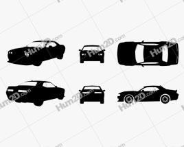 Dodge Challenger SRT Hellcat 2018 Silhueta car clipart
