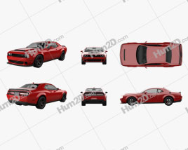 Dodge Challenger SRT Demon 2018 car clipart
