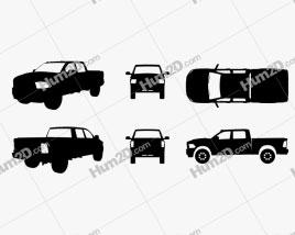 Dodge Ram Power Wagon Silhouette car clipart