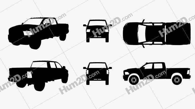 Dodge Ram Power Wagon Silhouette Clipart Bild