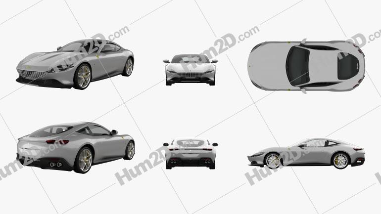 Ferrari Roma 2020 car clipart
