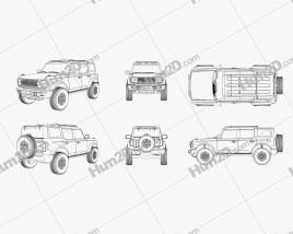 Ford Bronco 2020 Outline car clipart