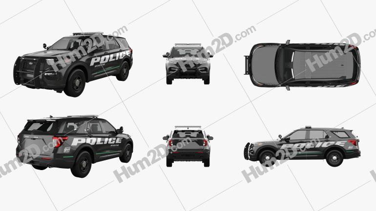 Ford Explorer Police Interceptor Utility 2020 car clipart