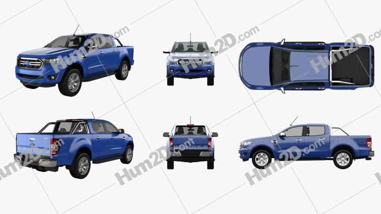 Ford Ranger XLT 2018 PNG car clipart