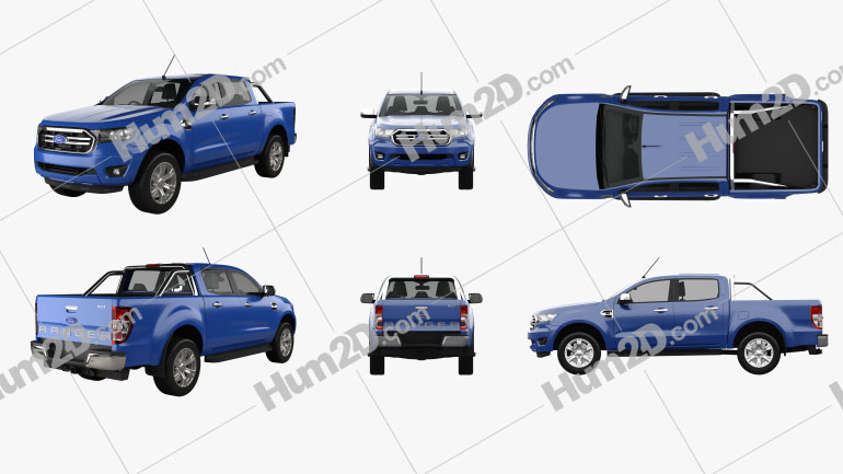 Ford Ranger XLT 2018 PNG Clipart Image