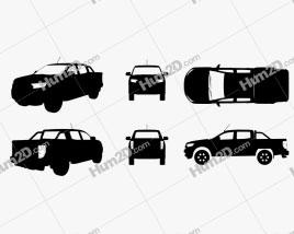 Ford Ranger XLT 2018 Silhueta car clipart