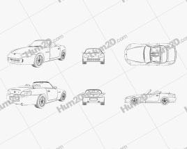 Honda S2000 Outline car clipart