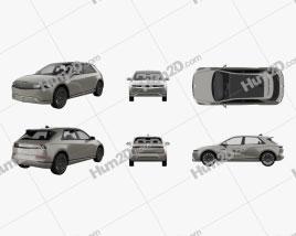 Hyundai Ioniq 5 2022 car clipart