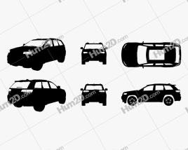 Jeep Grand Cherokee Silhueta car clipart