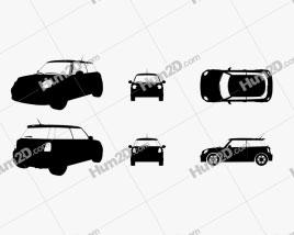 Mini Cooper Silhueta car clipart