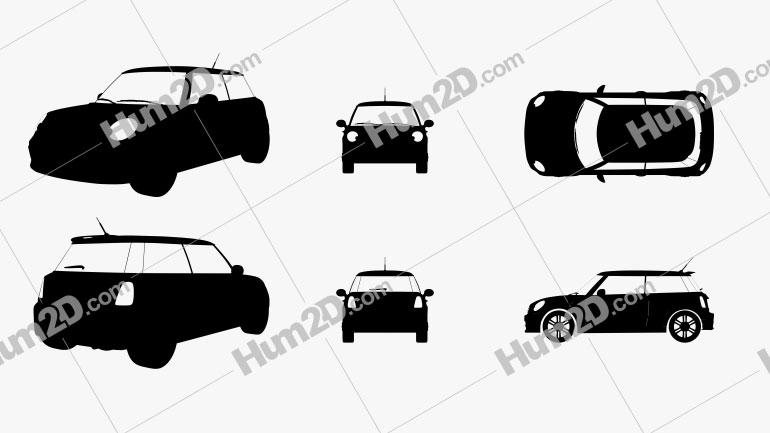 Mini Cooper Silhouette Clipart Image