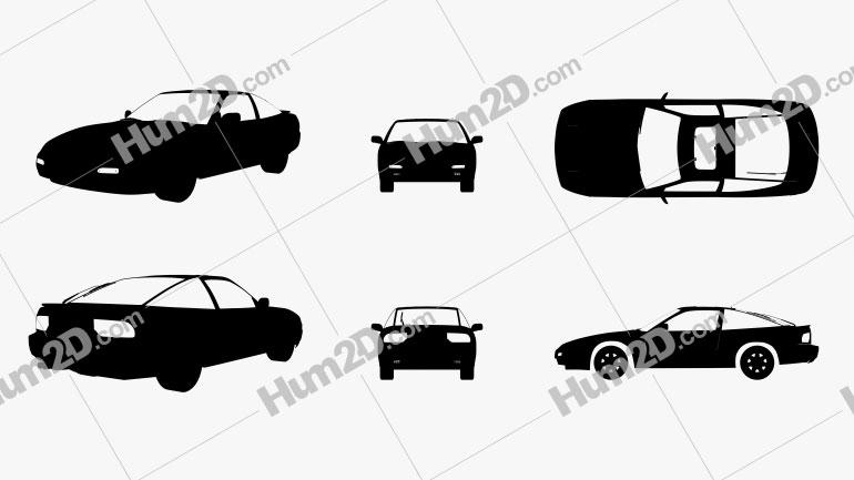 Nissan 240SX Fastback Silhueta car clipart