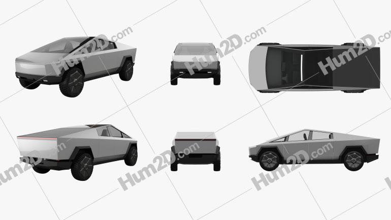Tesla Cybertruck PNG car clipart