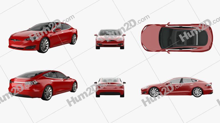 Tesla Model S PNG Clipart Image