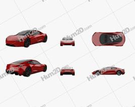 Tesla Roadster 2020 PNG car clipart