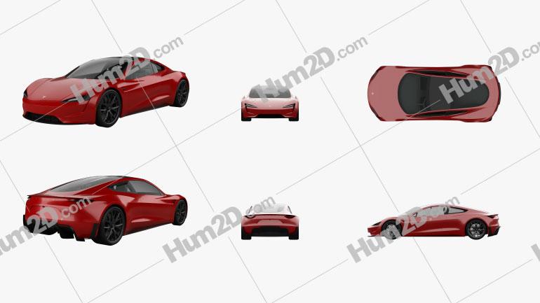 Tesla Roadster 2020 PNG Clipart Image