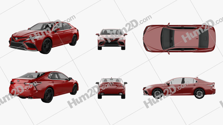 Toyota Camry XSE 2021 PNG Clipart Image