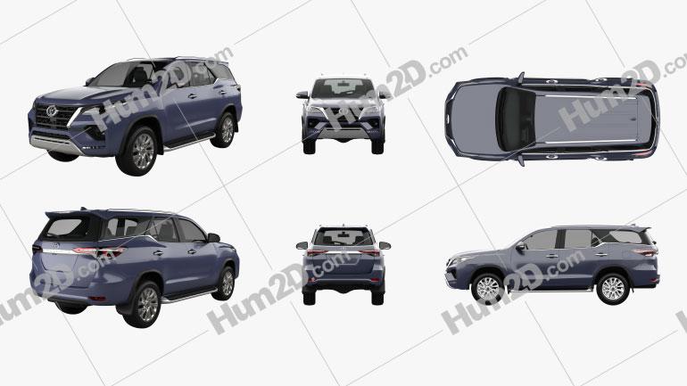 Toyota Fortuner 2020 PNG Clipart Bild