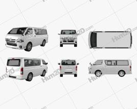 Toyota HiAce LWB Combi 2013 clipart